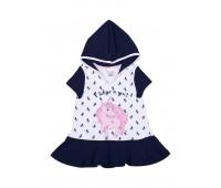 Платье для девочки с капюшоном 112-632-01