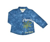 Рубашка для мальчика под джинсу 138-131а-01м