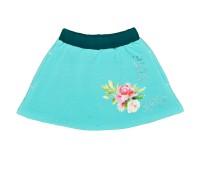Юбка для девочки голубая 139-626-02