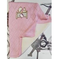 Плед детский утепленный Розовый 18828