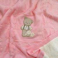 Плед детский утепленный Розовый
