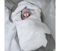Вязаный плед детский утепленный 110*90
