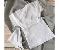 Крестильный комплект для девочки 62-68р, 74-80р белый