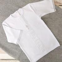 Крестильная рубаха для мальчика 62-68р, 74-80р белая