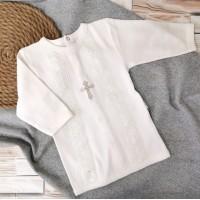 Рубаха крестильная цвета экрю, 62-68р, 74-80р