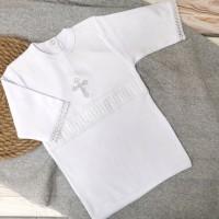 Рубашка крестильная для мальчика 62-68р, 74-80р белая