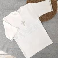 Рубашка крестильная для мальчика 62-68р, 74-80р экрю