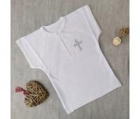 Крестильная рубаха, короткий рукав 62-68р
