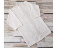 Крестильная рубаха цвета экрю 62-68р, 74-80р