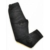 Легинсы для девочки, черный джинс