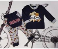Комплект ясельный джемпер+брюки Bears